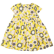 Buy John Lewis Floral Dress, Yellow/Grey Online at johnlewis.com