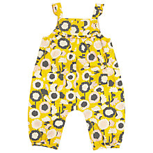 Buy John Lewis Floral Dungarees, Yellow Online at johnlewis.com