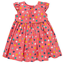 Buy John Lewis Polka Dot Dress, Red/Multi Online at johnlewis.com