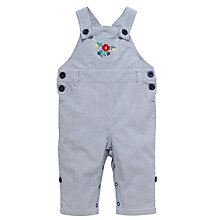 Buy John Lewis Stripe Embroidered Dungarees, Navy/White Online at johnlewis.com