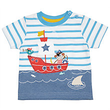 Buy John Lewis Monkey Boat Stripe T-Shirt, Blue Online at johnlewis.com