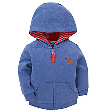 Buy John Lewis Dog Embroidery Hoody, Blue Online at johnlewis.com