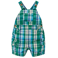 Buy John Lewis Check Poplin Dungarees, Green Online at johnlewis.com