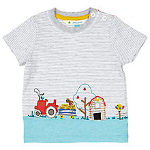 Buy John Lewis Baby Farm Scene Top, Grey Online at johnlewis.com