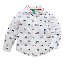 Buy John Lewis Tractor Shirt, White/Blue Online at johnlewis.com