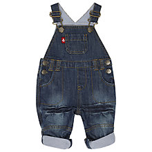 Buy John Lewis Denim Turn-Up Dungarees, Dark Blue Online at johnlewis.com