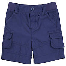 Buy John Lewis Poplin Combat Shorts, Navy Online at johnlewis.com