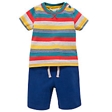 Buy John Lewis Stripe T-Shirt and Shorts Set, Multi Online at johnlewis.com