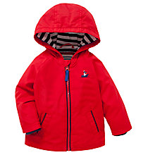 Buy John Lewis Cotton Blend Mac, Red Online at johnlewis.com