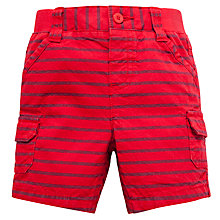 Buy John Lewis Twill Stripe Shorts, Red/Blue Online at johnlewis.com