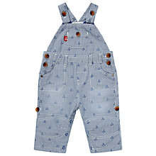 Buy John Lewis Anchor Roll Cuff Dungarees, Blue Online at johnlewis.com