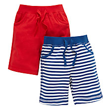 Buy John Lewis Jersey Nautical Bermuda Shorts, Pack of 2, Red/Blue Online at johnlewis.com