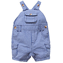 Buy John Lewis Bibshorts Ticking Stripe Dungarees, Blue Online at johnlewis.com
