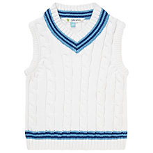 Buy John Lewis Cricket Knit Tank Top, White Online at johnlewis.com