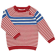 Buy John Lewis Nautical Stripe Jumper, Red/Blue Online at johnlewis.com