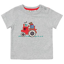 Buy John Lewis Bear Tractor T-Shirt, Grey Marl Online at johnlewis.com