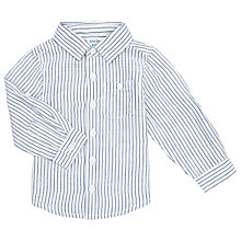 Buy John Lewis Stripe Cotton Shirt, Blue Online at johnlewis.com