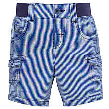 Buy John Lewis Ticking Stripe Shorts, Blue/White Online at johnlewis.com