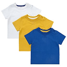 Buy John Lewis Plain T-Shirts, Pack of 3, Multi Online at johnlewis.com