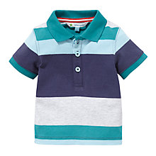 Buy John Lewis Stripe Polo Shirt, Turquoise/White Online at johnlewis.com