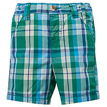 Buy John Lewis Patchwork Poplin Shorts, Green Online at johnlewis.com