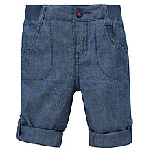 Buy John Lewis Chambray Roll Up Trousers, Blue Online at johnlewis.com