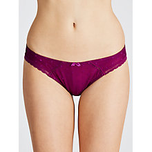 Buy COLLECTION by John Lewis Cecile Spot Mesh Briefs, Ultraviolet Online at johnlewis.com
