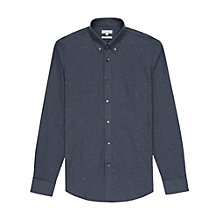 Buy Reiss Ross Flecked Twill Shirt, Blue Online at johnlewis.com