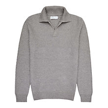 Buy Reiss Fort Stand Collar Jumper, Grey Online at johnlewis.com