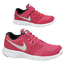 Buy Nike Children's Flex Experience 3 Trainers, Pink/Silver Online at johnlewis.com
