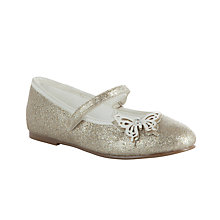 Buy John Lewis Glitter Butterfly Pump, Ivory/Gold Online at johnlewis.com