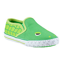 Buy John Lewis Harry Croc Slip On Canvas Shoes, Green Online at johnlewis.com