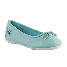 Buy Disney's Frozen Anna & Elsa Ballet Pumps, Light Blue Online at johnlewis.com