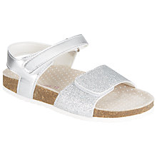 Buy John Lewis Ava Glitter Sandals, Silver Online at johnlewis.com