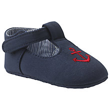 Buy John Lewis Anchor T-Bar Booties, Navy Online at johnlewis.com