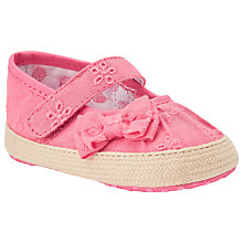 Buy John Lewis Bow Espadrilles, Pink Online at johnlewis.com