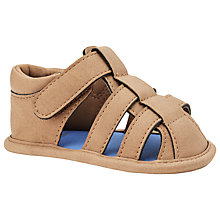 Buy John Lewis Faux Leather Sandals, Brown Online at johnlewis.com