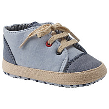 Buy John Lewis Espadrille Booties, Chambray Online at johnlewis.com