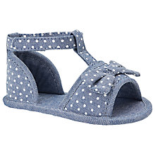 Buy John Lewis Dotty Bow Sandals, Chambray Online at johnlewis.com