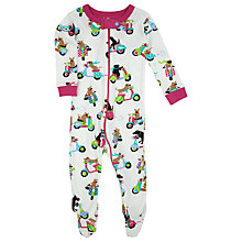 Buy Hatley Baby Dog Scooter Sleepsuit, Cream/Multi Online at johnlewis.com
