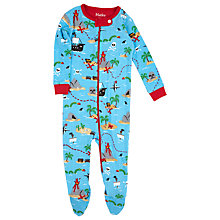 Buy Hatley Baby Treasure Island Sleepsuit, Blue/Multi Online at johnlewis.com