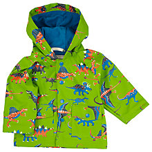 Buy Hatley Baby Waterproof Dinosaur Raincoat, Green/Multi Online at johnlewis.com