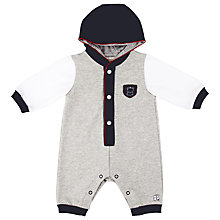 Buy Emile et Rose Elijah Hooded Romper, Grey/Navy Online at johnlewis.com