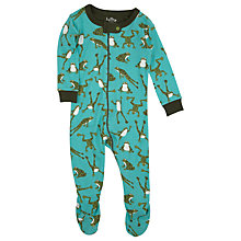 Buy Hatley Baby Frog Print Sleepsuit, Green Online at johnlewis.com