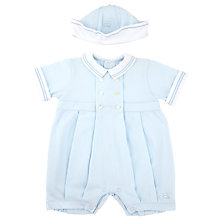 Buy Emile et Rose Baby Ellis Jersey Sailor Romper & Hat, Blue Online at johnlewis.com