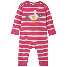 Buy Frugi Charlie Duck Onesie, Pink/White Online at johnlewis.com