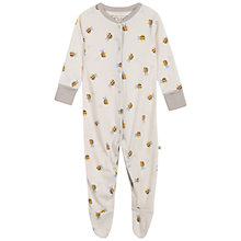 Buy Frugi Buzzy Bee Organic Cotton Bodysuit, Natural Online at johnlewis.com