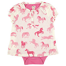 Buy Hatley Baby Horse Bodysuit Dress, Cream/Pink Online at johnlewis.com