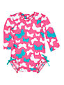 Hatley Baby Long Sleeve Butterfly Swimsuit, Pink