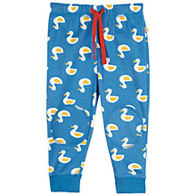 Buy Frugi Duck Print Crawler Joggers, Blue Online at johnlewis.com